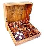 9 rompicapo in legno