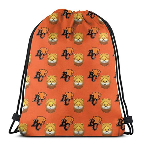 BC Lions Football CFL Cats Canada Drawstring Backpack Gym Sackpack for Men & Women School Travel Bag