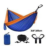 NoBrand Multi Couleur 2 Personnes Portable Parachute Hamac Camping Survie Jardin Flyknit Chasse Loisirs Hamac Voyage Double Personne Hamak