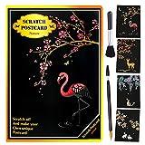 Scratch Art para niños Paper Art Rainbow Scratch Cards Set Black Scratch Paper Magic Scratch Drawing Crafts Paper Art Kit