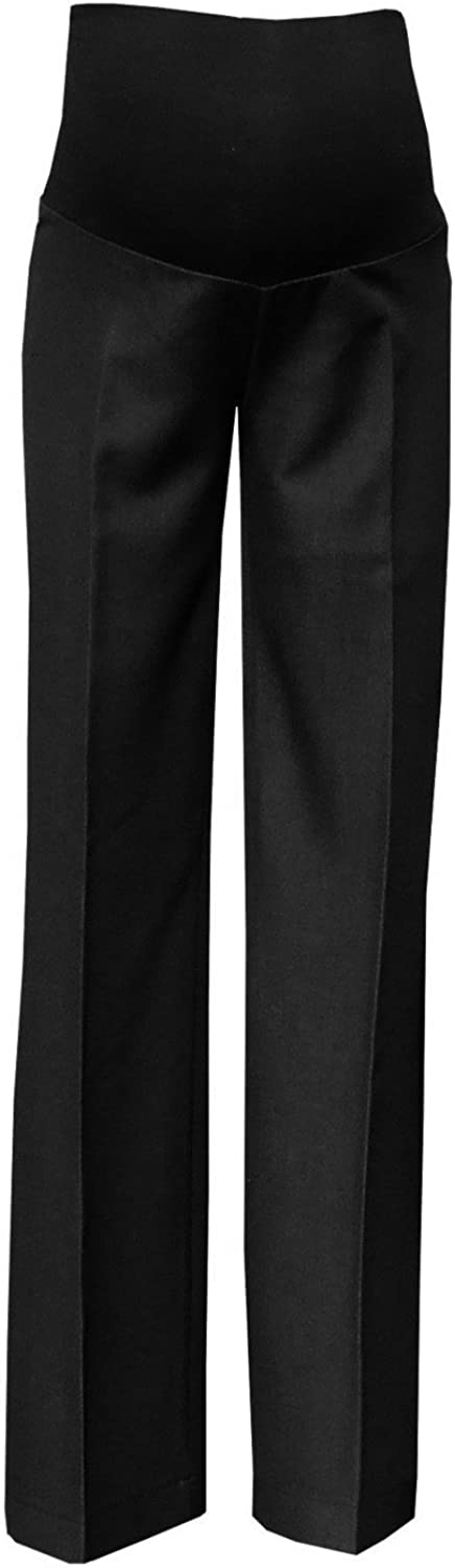 Mija  Elegant Classic Formal Smart Tailored Maternity Trousers Over Bump 1011A Black