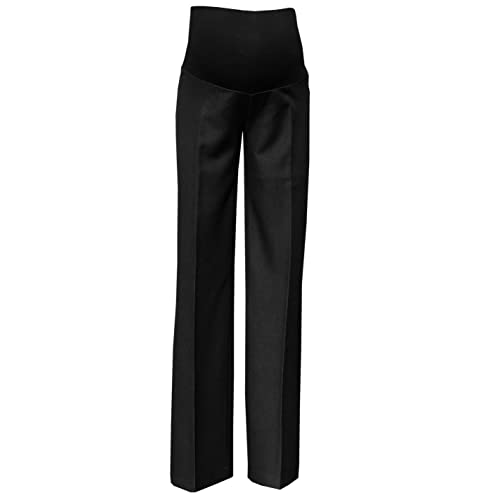 e185a3d60ee61 Mija - Elegant Classic Formal Smart Tailored Maternity Trousers Over Bump  1011A Black