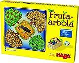 Haba Arbola-EUS. Emocionante Dados, con 40 Frutas de Madera y Reglas fáciles de Entender, Popular Juego de Mesa a Partir de 3 años, Multicolor (Habermass 302626)