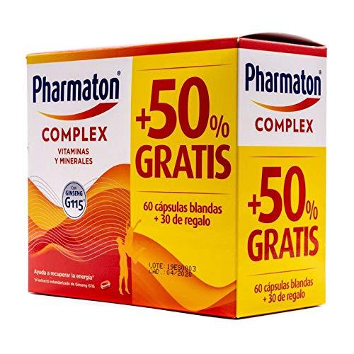 SANOFI PHARMATON COMPLEX CON GINSEN PACK 60 CAPSULAS 50% GRATIS
