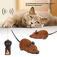 マウスのおもちゃ、マウスの型、リモコンのワイヤレスマウス、現実的な灰色、茶色の猫(犬用のリモコン付き)(brown)