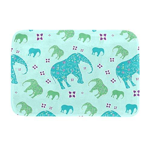 TIZORAX Teppich mit Elefantenmotiv, rutschfest, zottelig, für Esszimmer, Wohnzimmer, Kinderzimmer, 160 x 122 cm, Polyester, multi, 203x147cm/80x58in