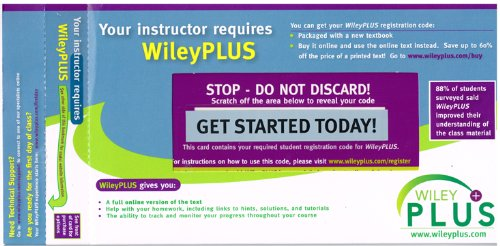WileyPLUS Stand-Alone Access Code