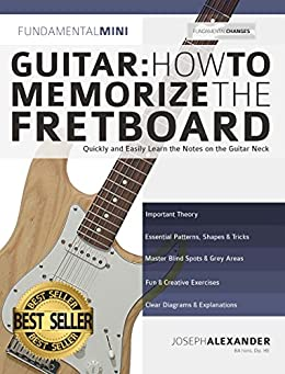 Guitar: How to Memorize the Fretboard: Quickly and Easily Learn the Notes on the Guitar Neck (Learn the guitar fretboard Book 1) by [Joseph Alexander]