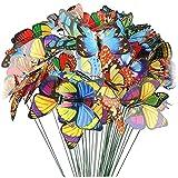 Ruluti 50 Unids Mariposa Pila Ornamentos Jardín Pila Interior Y...