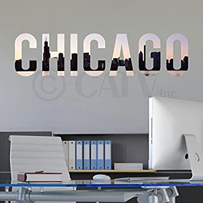 City Skyline Lettering vinyl lettering decal home decor wall art saying cityscape self adhesive fabric vinyl