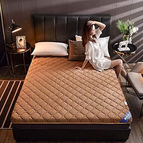 Futon Mattress,mattresses Futon Thicken Futon Floor Mattress Soft Folding Portable Mattress Double Single Japanese Futons,Japanese Tatami Roll Mat Foldable Mattress/Brown / 90x190cm