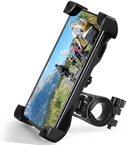 "Zommuei Soporte Movil Bici, Soporte Movil Moto Universal 360°Rotación Anti Vibración Porta Telefono Motocicleta Montaña Soporte para iPhone Samsung LG HTC Motorola Xiaomi GPS y Otro 4.5-7.0"" Móvil"