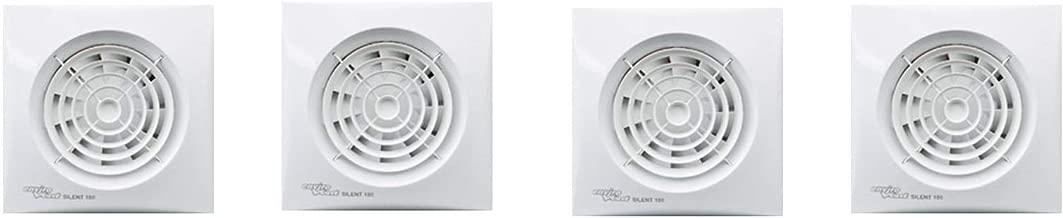 Dise/ño de ventilador Extractor EnviroVent Silent 10,16 cm obturador y ajustable y temporizador de intervalos Sensor de humedad ajustable
