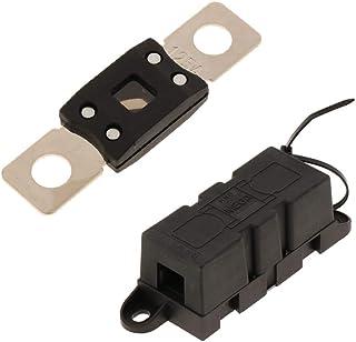 IPOTCH Mega Sicherung 125a + Mega Sicherungsblock/Halter mit Abdeckung für Wohnmobil/Marine/Van