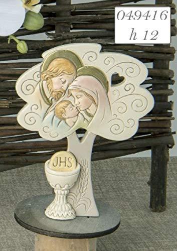 Icona SACRA FAMIGLIA albero della vita resina bomboniera