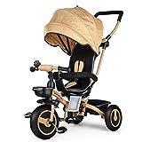 Fascol Triciclo Bebé Plegable 4 en 1 Trike Bicicleta para Niños de 6...