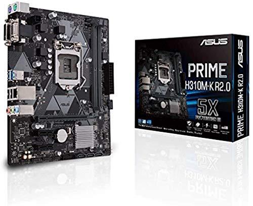 ASUS Prime H310M-K R2.0 Mainboard Sockel Intel LGA 1151 (Micro ATX, DDR4, SATA 6Gbit/s, USB 3.1 Gen 1)