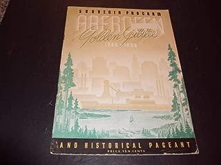 Souvenir Program Aberdeen Golden Jubilee 1888-1938