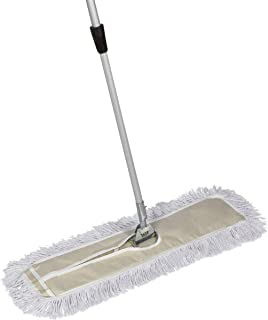 Tidy Tools 30 Inch Cotton Dust Mop - 30`` X 5`` Wide Mop Head with Cut Ends (60 Inch Extendable Metal Telescopic Handle)