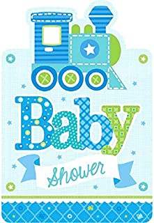 Amscan Charming Welcome Little One Boy Postcard Invitations Baby Shower Party Supplies, 4-1/4 x 6-1/4