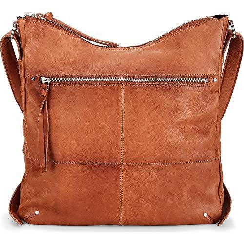 Cox Damen Rucksack-Schultertasche Braun Leder 0