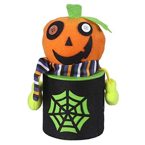 BESTOYARD Caja de bombones de Halloween con bonitos dibujos animados zombie Candy Jar Treat Cookie bolsa de regalo para nios Halloween Home Party Bar decoracin Cosplay Prop