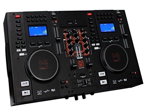 Mr. Dj CDMIX CDMIX1000BT Professional Dual CD Mixer with USB Card Slot and Bluetooth Technology