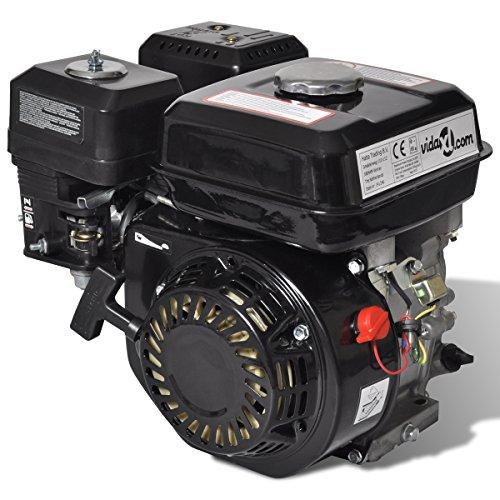 VidaXL 6,5 HP Motore A Benzina Nero 4,8 KW Pompa Piastra Tosaerba Spaccalegna