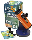 Telescopio Levenhuk LabZZ D1 para Niños, de Fácil Uso, con Montura Dobsoniana Giratoria de Sobremesa y un Poder de Aumento de 100x