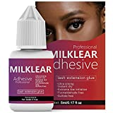 Best Eyelash Extension Glues - MILKLEAR Eyelash Extension Glue Lasts 6-8 Weeks Strong Review