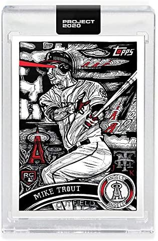 Topps Project 2020 MIKE TROUT Encased Baseball Card 121 2011 Topps Update by ARTIST JK5 product image