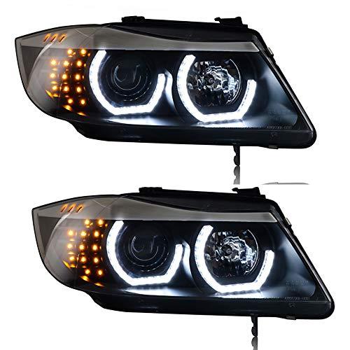JGRT_CarLight 2 PZ Fari Assemblies 3 serie e90 2006-2012 Bi-Xenon Lens Proiettore Doppio Fascio Xenon HID KIT Con LED Luci Diurne