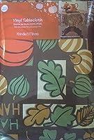 Autumn Patchwork Vinyl PEVA Tablecloth, 70 Inch Round [並行輸入品]