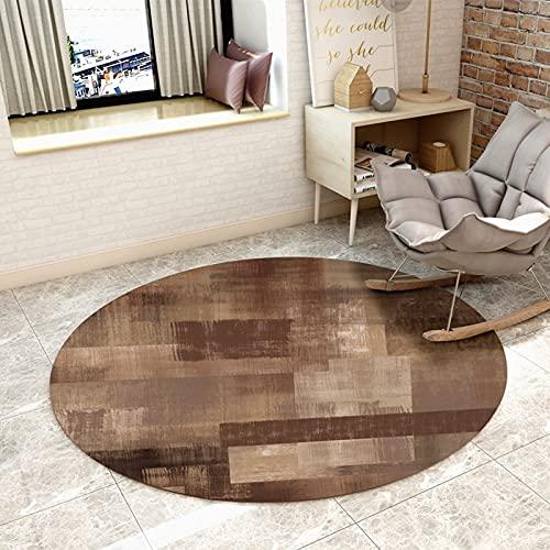 ZZBBZZ-YJ Área Redonda Moderna alfombras marrón alfombras Circulares for Sala de Estar Dormitorio Alfombras de Noche Piso de Inicio Mat - 80 cm 100 cm 120 cm 140 cm 160 cm 180cm 200cm 300cm