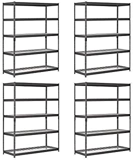 Edsal TRK-602478W5 Heavy Duty Steel Shelving In Black 60x24x78 inches (Pack of 4)