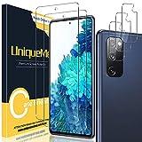 [2+3 Pack] UniqueMe Compatible con Samsung Galaxy S20 FE / S20 FE 5G (No S20) Protector de Pantalla + Protector de Lente de cámara, Vidrio Templado [9H Dureza] HD Film Cristal Templado Transparente