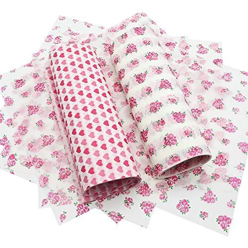 100 piezas de papel de cera, papel de embalaje de alimentos desechables, hojas de papel de 25 x 22 cm, papel de regalo para tarta de queso, galletas, sándwich, jabón hecho a mano