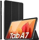 ELTD Hülle für Samsung Galaxy Tab A7,Ultra Lightweight Flip mit Ständer & Eingebautem Magnet Hochwertiges PU Leder Schutzhülle für Samsung Galaxy Tab A7 2020 10.4 Zoll (Schwarz)