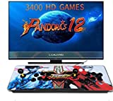 Juegos Consola de Videojuegos - Pandora Box 12 ,3400 in 1 Arcade Game Console, Clasificación de Juegos Inteligentes, 2 Joystick HDMI y VGA y Salida USB,Idioma en Inglés (2)