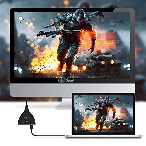 ESORST Portátiles de 3 Puertos HDMI y 1 Salida HDMI Full HD 1080P 4K * 2K HDMI Interruptor 3D Pantalla de Imagen for Multi Media DevicesPortable 3 HDMI Cable HDMI