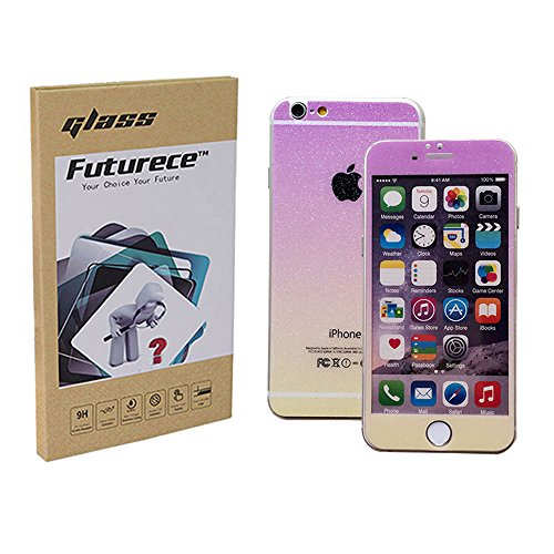 """Violet Yellow Colorful Tempered Glass Screen Protector For iPhone 6 / iPhone 6S Security Guard Film Extreme Clarity Shield Anti Scratch Fingerprint Resistant Explosion Proof Oleophobic 4.7""""Screen"""
