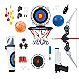 KUMEDAL Basketball Shooting Set - Mini Basketball for Kids, Air Pistol Shooting Set & Extreme Kids Archery Set...
