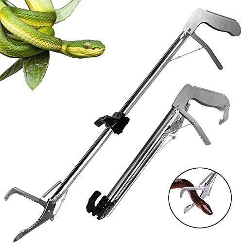 LANGYINH - Pinzas de serpiente para recoger reptiles de 47 pulgadas, herramienta de manejo de mandíbula ancha, para transportar serpiente