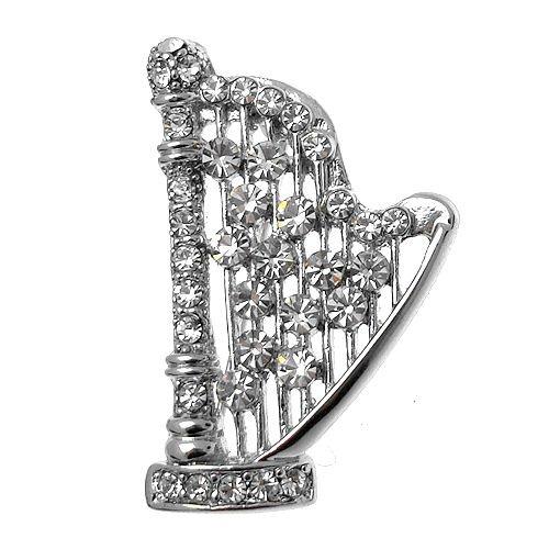 Acosta - claro cristal Swarovski srga - instrumento Musical broche (plata)