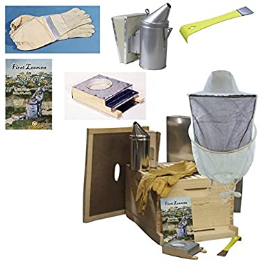 Easy Beehive Starter Kit - Single Bee Hives for Beginners and Pros and All the Beekeeping Supplies You Need, 10 Frames
