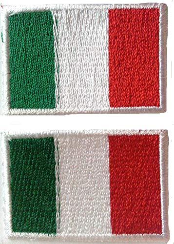 Toppe bandiere Italiiana toppa adesiva termoadesive toppa jeans stoffa patch toppe termoadesive 2 pezzis ogni 3 x 4 ,5 cm
