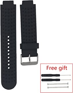 Meiruo Replacement Watch Band Strap for Garmin Forerunner 220/235 /630/620 /735 (Silicone Wristband)