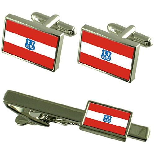 Asunción Ciudad Bandera Nicaragua gemelos Clip de corbata Box Set de regalo