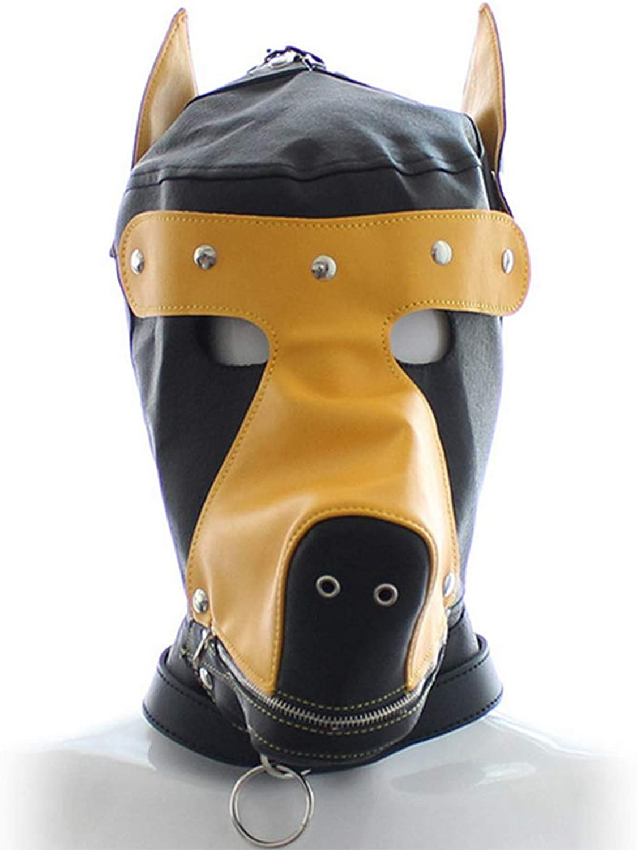 HONGSHENG Spielzeug Alternativen Erwachsene Augenmaske Gelb Hundekopfmaske Leistung Kopfbedeckung Hund Erwachsene Produkte,3packs