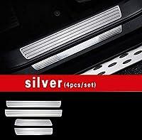 メルセデスベンツgle W166 350d 320 400 amg gleクーペc292 ドアシルスカッフプレートプレートようこそペダルトリムカバーステッカーアクセサリー-gle w166 silver